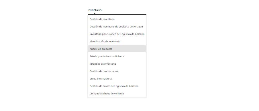 Añadir productos en amazon