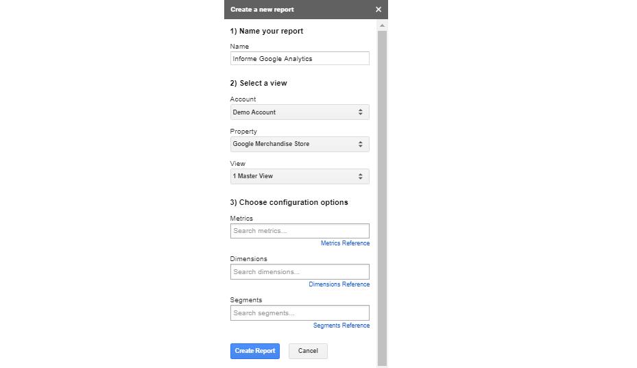 Crear reporte Google Analytics en Sheets