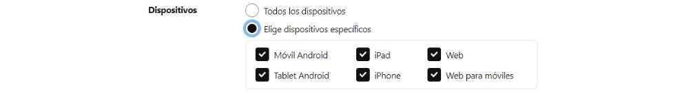 Dispositivos Pinterest