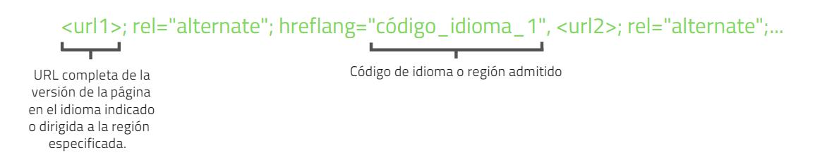 Encabezado HTTP hreflang