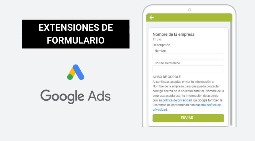 Extensiones de Formulario de Contacto en Google Ads