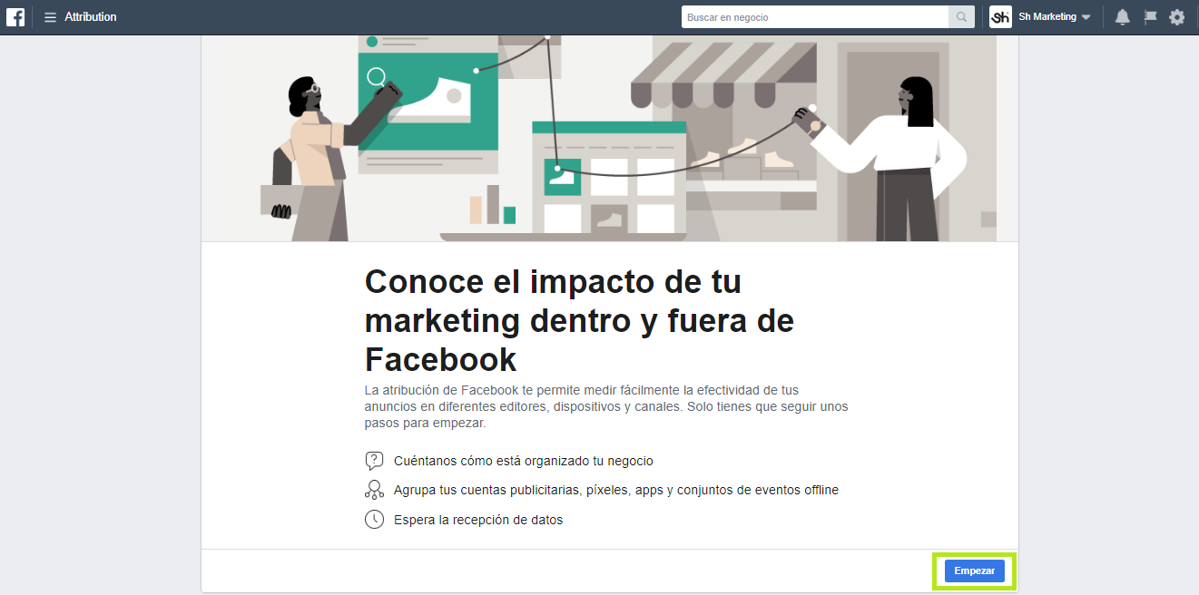 Facebook Attribution Empezar Atribución de Facebook