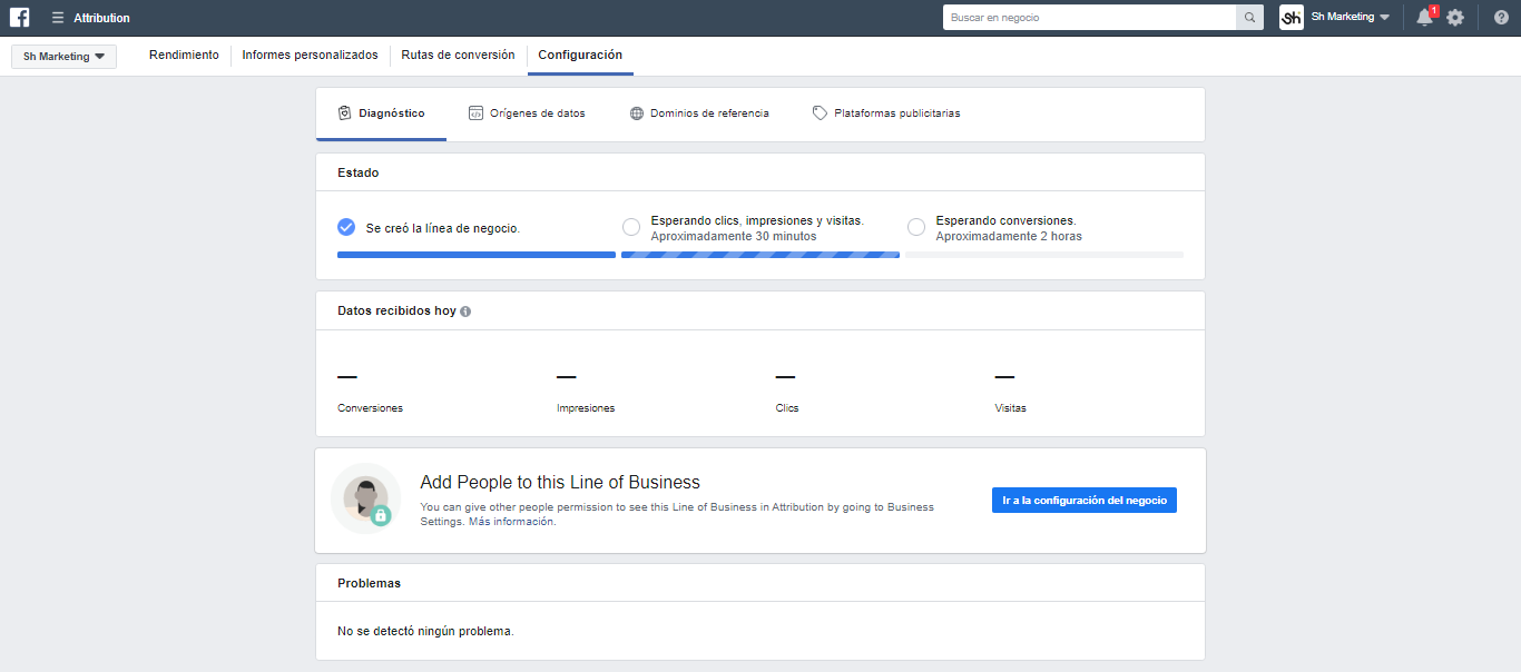 Facebook Attribution configurar