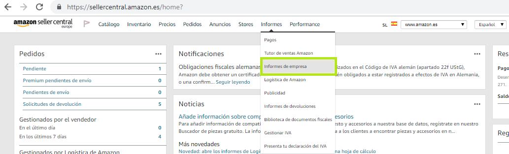 Informes de empresa Amazon