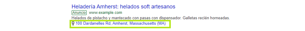 extensiones de ubicacion Google Ads SEM