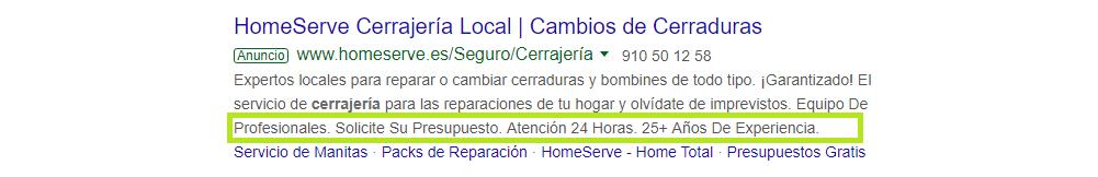 extensiones texto Agencia SEM Google ADs