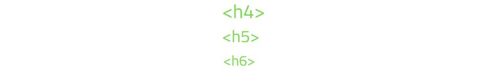 h4 h5 h6